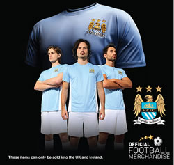 Official Manchester City t-shirts