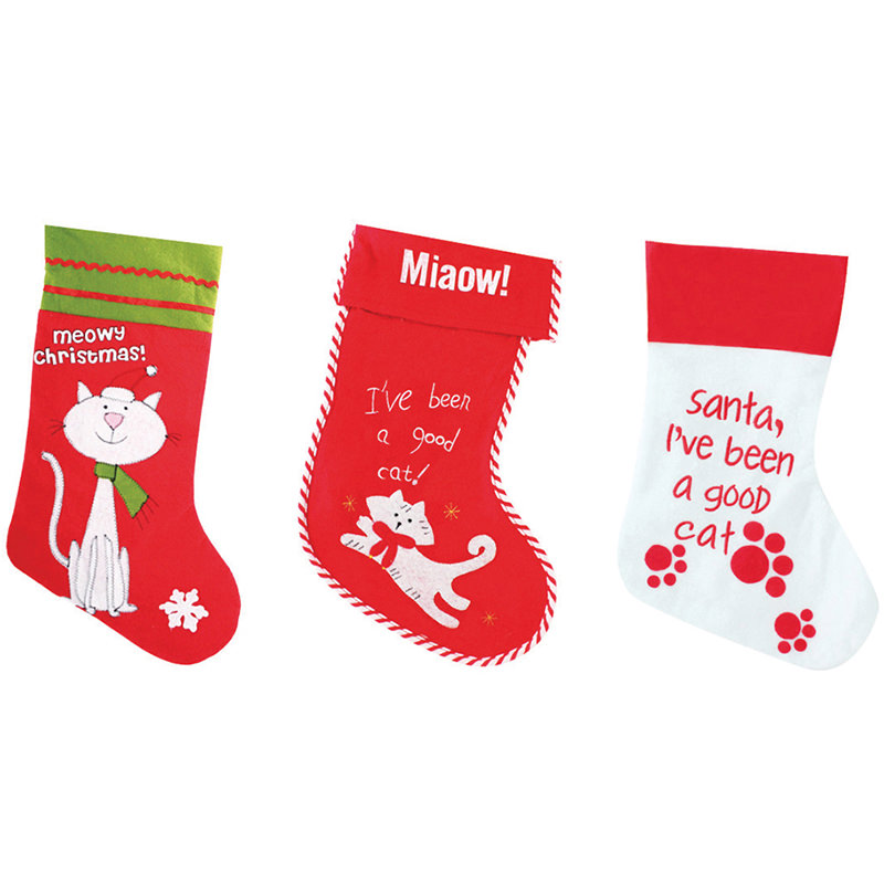 Pet cat Christmas sacks