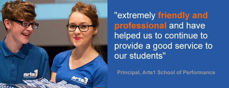 Arts1 School of Performance testimonial