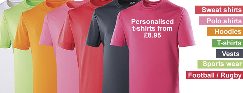 Personalised T-shirts from just £8.99