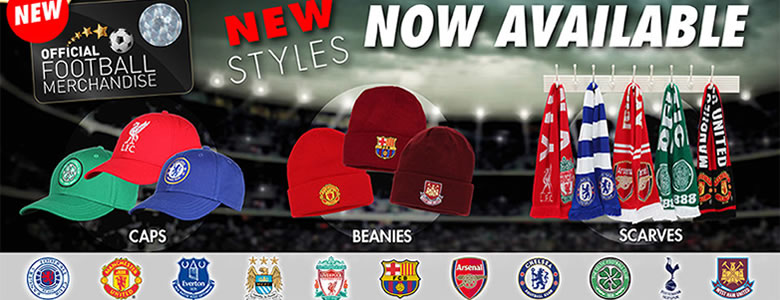nEW STYLES AVAILABLE FOR OFFICIAL FOOTBALL MERCHANDISE
